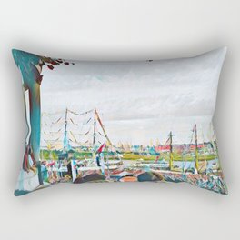 My view of the boat race Rectangular Pillow