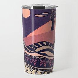 Psychedelic mountains (colour option) Travel Mug
