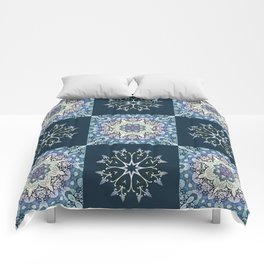 handdrawn abstract winter pattern Comforters