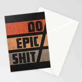 Do Epic Shit 1 - Grunge style Stationery Cards