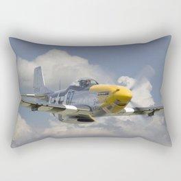 P51 Mustang - Ferocious Frankie Rectangular Pillow