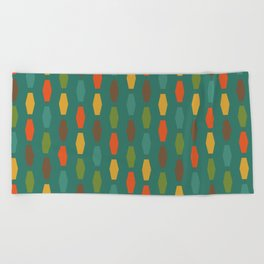 Colima - Teal Beach Towel