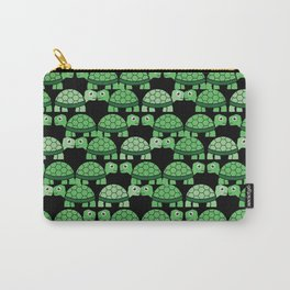 Turtle Pattern (Black and green) Carry-All Pouch