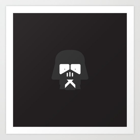 Darth Fighters / Darth Vader Art Print