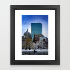 Winter in Boston Framed Art Print