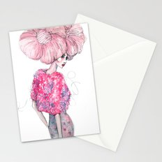 Cotton Candy Hair // Fashion Illustration Stationery Cards
