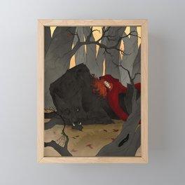The Big Bad Wolf Framed Mini Art Print