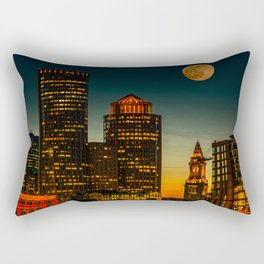 Boston Pink  Moon Rectangular Pillow