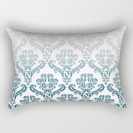 DAMASK GREY TO TEAL Rectangular Pillow