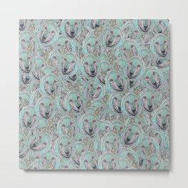 Power Wolf Pattern Metal Print