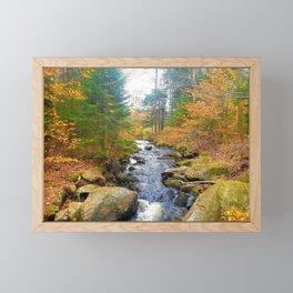 Vermont in Fall Framed Mini Art Print