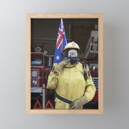 Fire Fighter Framed Mini Art Print