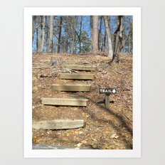 First Steps of the Journey Art Print
