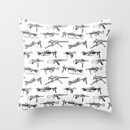 Machine Guns Throw Pillow