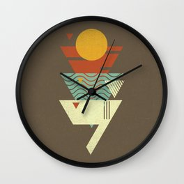 Sun. Sea. Sand. Shark. Wall Clock