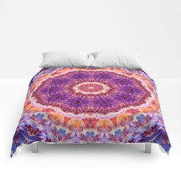 Cosmic Convergence Mandala Comforters
