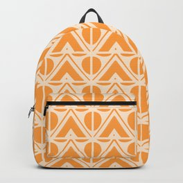 Sun & Mountains Orange Mid Century Modern Shapes Backpack