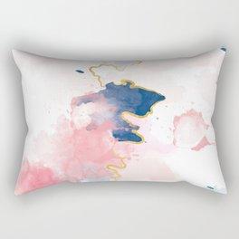 Kintsugi Pastel Marble #kintsugi #gold #japan #marble #pink #blue #home #decor #kirovair Rectangular Pillow