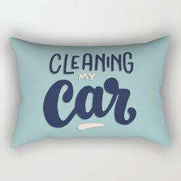 Cleaning my car Rectangular Pillow
