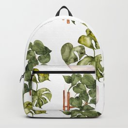 Potted Plants - Green Plants Pattern Backpack