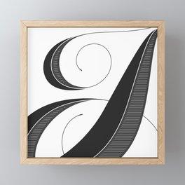 Letter I - Script Lettering Cropped Design Framed Mini Art Print