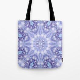 Light Blue, Lavender & White Floral Mandala Tote Bag
