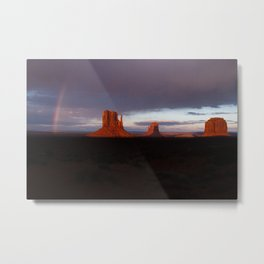 Monuments After Rain Metal Print