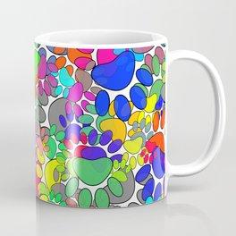 Lots Of Dog Paw Prints All Over Coffee Mug