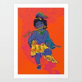 Colorful Gopala Art Print