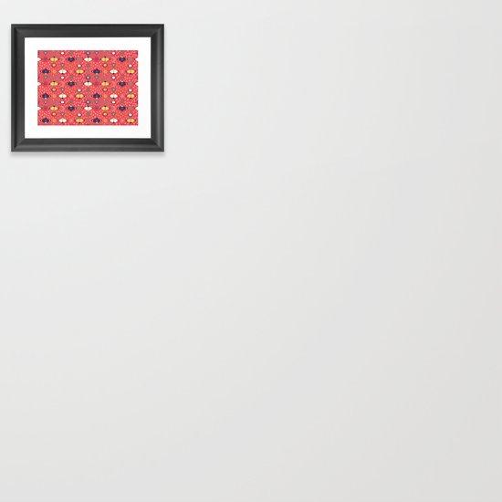 Cosmos Pattern Framed Art Print