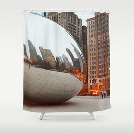 Chicago Bean - Big City Lights Shower Curtain