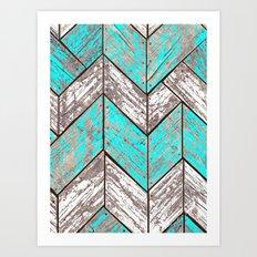 SHORELINE CHEVRONS (1 of 3) Art Print