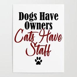 Funny Cat Evil Kitty Meow Whisperer Kitten Dog Pet Poster