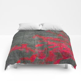 abstract pink branchs Comforters