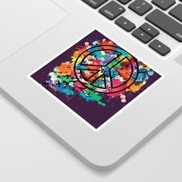 Peace & Freedom Sticker