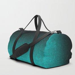 Aqua & Black Glitter Gradient Duffle Bag