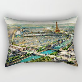 Paris 1900 Panorama Rectangular Pillow