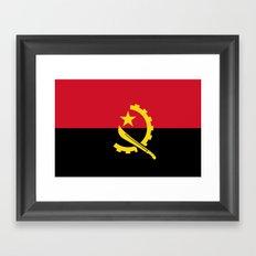 Flag Of Angola Framed Art Print