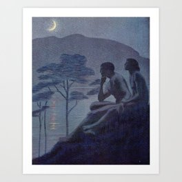 """""""Give me nights perfectly quiet... and I looking up at the stars"""" Art Print"""