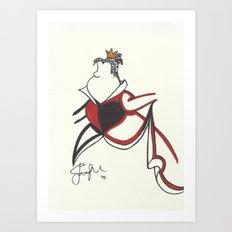Queen of Hearts Zen Tangle Art Print