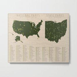 US National Parks - Ohio Metal Print