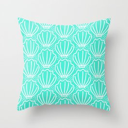 Shell del mar Throw Pillow