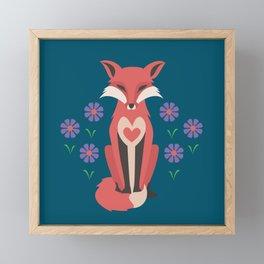 Spring Fox Framed Mini Art Print