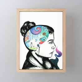 A Head Full of Wonder Framed Mini Art Print