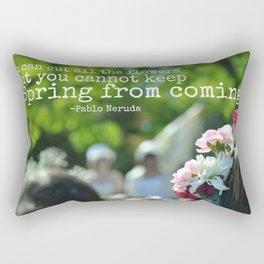 Cannot Stop the Spring Rectangular Pillow