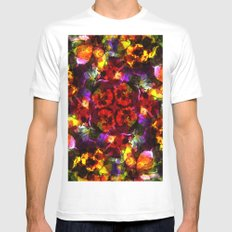 Flower Kaleidoscope  MEDIUM White Mens Fitted Tee