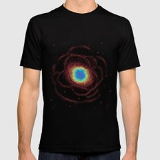 Ring Galaxy (8bit) Black Mens Fitted Tee MEDIUM