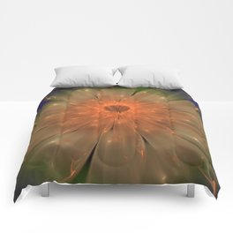 Abstract Flame Flower Comforters