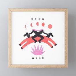 Born Wild Framed Mini Art Print