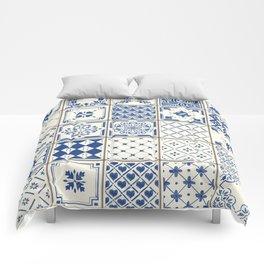 Blue Ceramic Tiles Comforters
